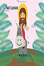 Notebook: Cute Jesus Donkey Sermon Christian Lord Book Notepad Notebook Composition and Journal Gratitude Dot Diary