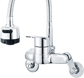 Kitchen Faucet Taps Chrome Pull Out Wall Mount Sink Faucet 2-function DS-402
