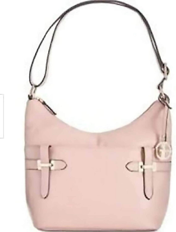 Giani Bernini Women's Bridle Leather Hobo Shoulder Bag ROSE PINK
