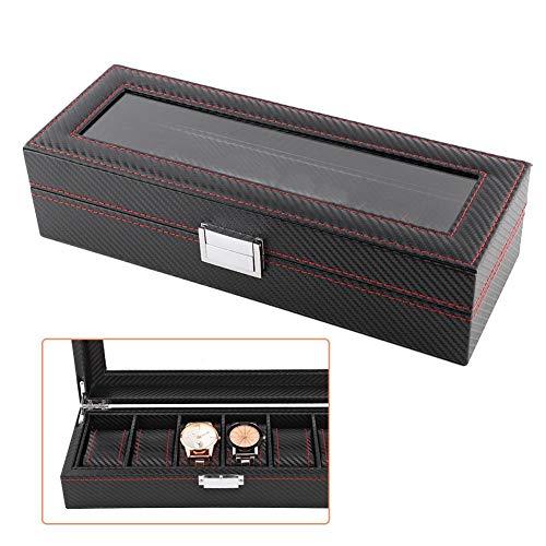 Para colección de joyas o pulseras, etc., caja de madera para relojes de pulsera, caja para 6 relojes, caja de almacenamiento.