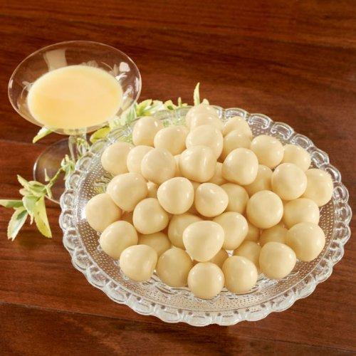 Eierlikörkugeln(600g) Gefüllt mit flüssigem Eierlikör und mit feiner weißer Schokolade dragiert