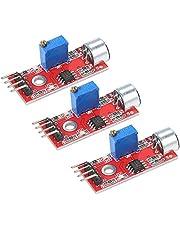 3 قطع مصغرة حساسية ميكروفون وحدة مستشعر الصوت متوافقة مع Arduino