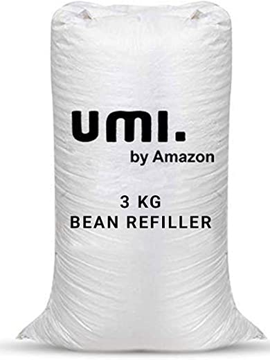 Amazon Brand – Umi.Premium 3 Kg Beans for Bean Bag Filling – White Sparrow (3 kg Beans – 2100 Grams net Weight as per Indian Standards)