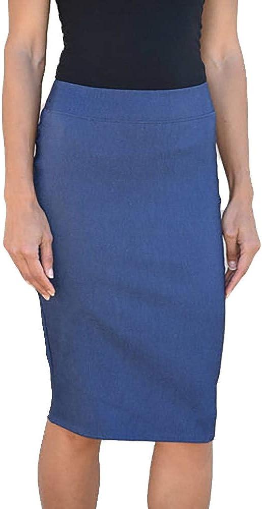 Riva Karen Women's Pull On Pencil Skirt Super popular specialty store Style Stretch Millenium Over item handling
