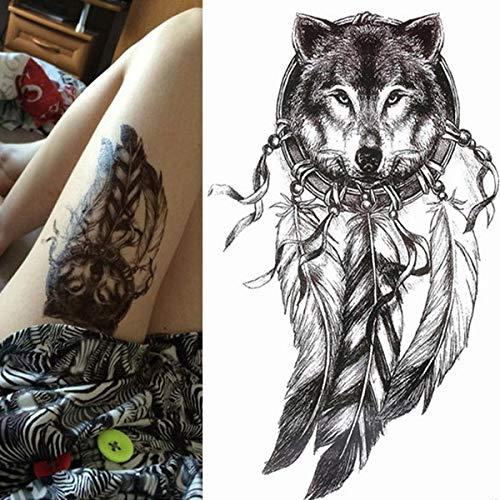Handaxian 3pcs Tattoo Frau Schwalbe Vogel Blume Tattoo Aquarell Mädchen Bikini Tattoo 3pcs-15
