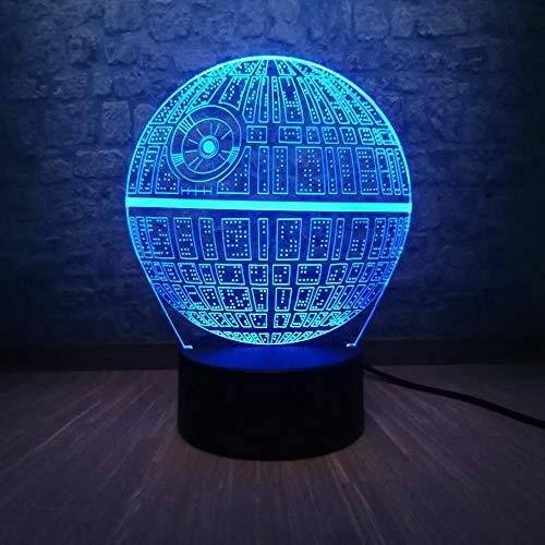 Star Wars Todesstern DS-1 Plattform Ultimative Waffe 3D LED Mehrfarbige Tischlampe Teen Zimmer Nachtlicht Kinderspielzeug Weihnachtsgeschenke