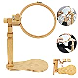 Embroidery Stand - Adjustable Rotated Cross Stitch Stand Lap, Beech Wood Embroidery Hoop Holder, Hands Free Embroidery Frame Stand for Art Craft Sewing Projects