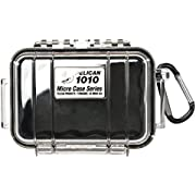 Waterproof Case   Pelican 1010 Micro Case - for cell phone, GoPro, camera, and more (Black/Clear)