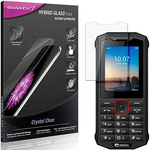 SWIDO Panzerglas Schutzfolie kompatibel mit Crosscall Spider X4 Bildschirmschutz-Folie & Glas = biegsames HYBRIDGLAS, splitterfrei, Anti-Fingerprint KLAR - HD-Clear