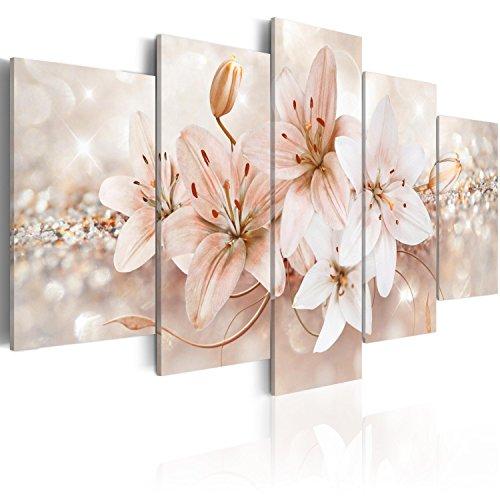 murando Cuadro en Lienzo 200x100 cm Flores Impresión de 5 Piezas Material Tejido no Tejido Impresión Artística Imagen Gráfica Decoracion de Pared b-A-0297-b-o