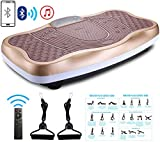 TODO Vibration Platform Power Plate Wholebody Vibrating Massager- Remote Control/Bluetooth Music/USB Connection/Adjustable Speed(Gold-Wave)