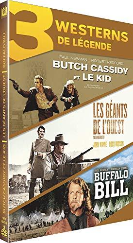 Coffret westerns de légende : butch cassidy et le kid ; les géants de l'ouest ; buffalo bill [Italia] [DVD]