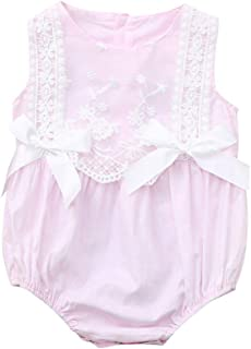 Toddler Baby Girls Clothes, Infant Baby Girl Kid Newborn Lace Bow Floral Romper Bodysuit Sunsuit Outfits