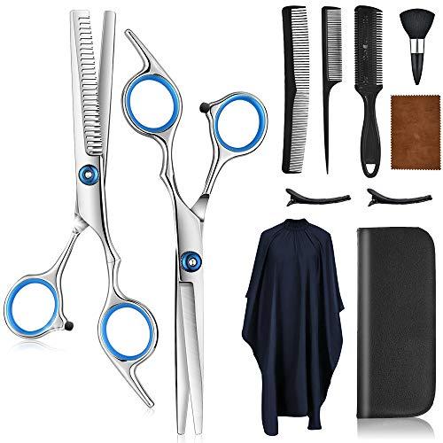 AFDEAL Haarschere Set, Haarschneideschere Set, Extra Scharfe Haarschere Friseurschere aus Edelstahl zum Ausdünnen und Strukturieren, Modellieren Professionelle Scheren Friseur Set für Damen und Herren