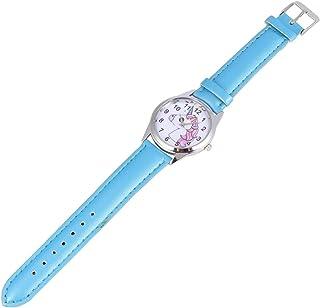 Hemobllo Kids Watches - Cute Quartz Wristwatch with Leather Watch Band Waterproof Wrist Watches for Kids Children Boys Girls