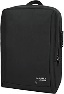 PARIMEX URBAN Backpack Mochila Business 44 cm. 18L. RFID Blocking. Cerradura TSA. (Negro)