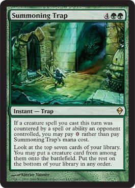 Magic The Gathering Summoning Trap - Zendikar Rare