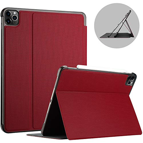 ProCase iPad Pro 11 Inch Case 2020 Release, 2nd Generation, Shockproof Folio Cover Lightweight Protective Case -Red