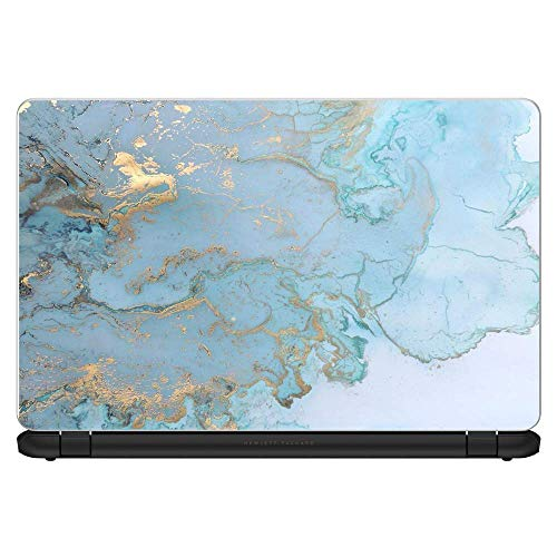 "Custom Fit Made to Order Laptop Notebook Skin Vinyl Sticker Cover Decal Fits 13.3"" 14"" 15.6"" 16"" HP Lenovo Apple Mac Dell Compaq Acer / Black White Swirls Marble Granite"