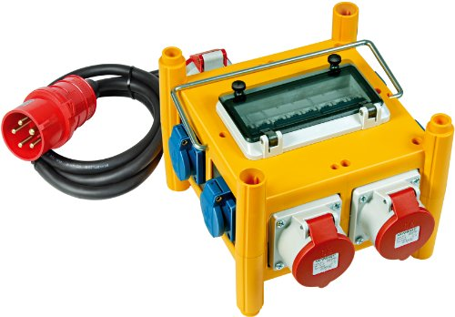 Brennenstuhl Kompakter Stromverteiler BSV 3/32 IP44 Baustelleneinsatz und Outdoor, 1153660