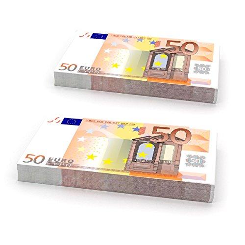 Plata o Plomo Pacchetto 200 Biglietti fittizi da Giocare 200 x 50 € - Soldi Falsi banconota Falsa Euro Falso 50 Euros