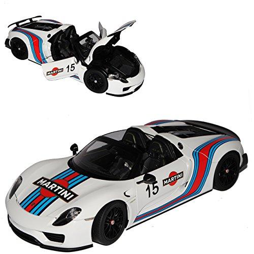 AUTOart Porsche 918 Spyder 2013 Weissach Package Martini Racing Weiss 77927 1/18 Modell Auto mit individiuellem Wunschkennzeichen