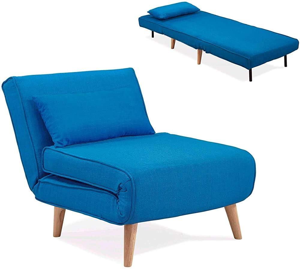 sala de estar,Blue encaja f/ácilmente cambiar de sill/ón sof/á cama silla lateral dormitorio oficina Sill/ón