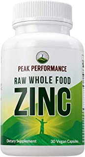 Sponsored Ad - Raw Whole Food Best Zinc Vegan Supplement with Vitamin C + Over 25 Organic Vegetables and Fruits for Max Ab...