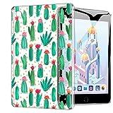 ZhuoFan Funda iPad Mini 5, Case Carcasa Silicona Gel TPU Transparente con Dibujos Antigolpes Cover Piel de Protector Ligera Compatible con Tableta Apple iPad Mini5 2019 7,9 Pulgadas, Cactus