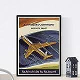 Nacnic Poster Vintage. Cartel Vintage de América. American Airlines. Tamaño A4