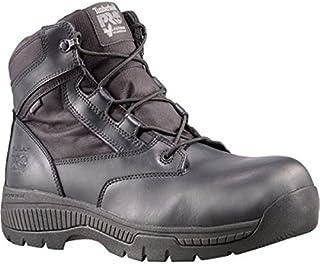 [ティンバーランド] レディース シューズ?靴 ブーツ Valor Duty 6' Composite Toe WP Side-Zip Boot Black Smooth Leather サイズ9.5-W [並行輸入品]