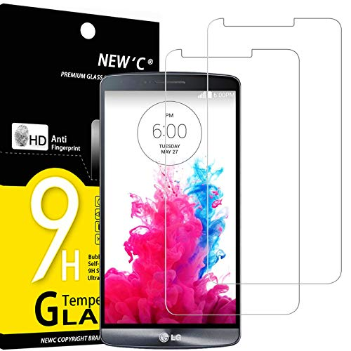 NEW'C 2 Stück, Schutzfolie Panzerglas für LG G3, Frei von Kratzern, 9H Festigkeit, HD Bildschirmschutzfolie, 0.33mm Ultra-klar, Ultrawiderstandsfähig