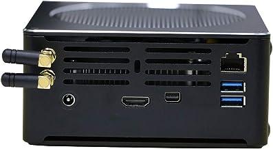 4K Mini PC,Desktop Computer,Support Windows 10,Linux Ubuntu,Proxmox,Vmware,ESXI,Intel Six Cores I7 8850H,(Black),[HUNSN BY01],[WiFi/Bluetooth/1MINI DP/1HDMI/4USB3.0/1LAN](Barebone System)