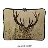 SCOCICI Whitetail Deer Fawn in Wilderness Stag Countryside Rural Hunting Laptop Sleeve Case Water-Resistant Protective Cover Portable Computer Carrying Bag Pouch for 11.6 inch/12 inch Laptop