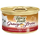 Purina Fancy Feast Gravy Wet Cat Food, Gravy Lovers Beef Feast in Roasted Beef Flavor Gravy - (24) 3 oz. Cans