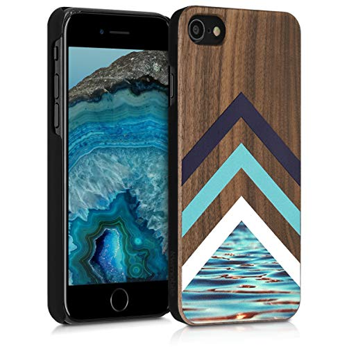 kwmobile Funda Compatible con Apple iPhone 7/8 / SE (2020) - Carcasa de Madera -...