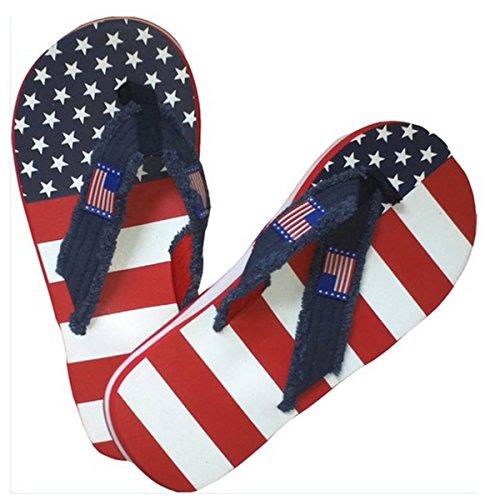 TheFlagShirt Men's American Flag Flip Flop Sandals (11)