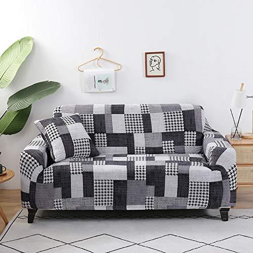 ASCV Funda de sofá de algodón con Estampado Floral Toalla de sofá Fundas de sofá para Sala de Estar Funda de sofá Funda sofá Proteger Muebles A1 1 Plaza