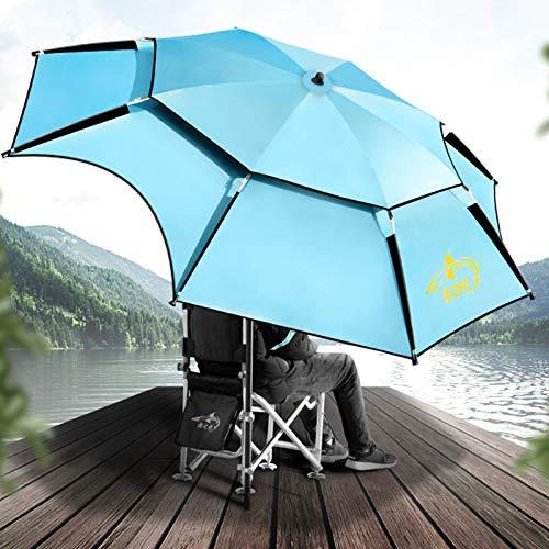 CMJM Sombrilla Playa Jardin Terraza Grande Antiviento Proteccion UV 2m/2.2m/2.4m Portátil Sombrilla con Bolsa De Transporte para Pesca Picnic Camping Protección