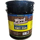 Wood Defender Semi-Transparent Fence Stain BLACK 5-gallon