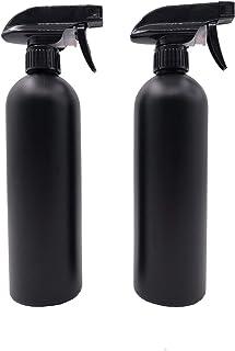スプレーボトル アルコール HDPE【新型コロナウイルス対策】500ml 2個セット 除菌 消毒 虫除け 黒 遮光 小分けボトル 液体詰替用ボトル アトマイザー