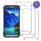Sangrl Verre Trempé pour Samsung Galaxy S5 Active, HD Transparent Screen Protector [3-Pièces] [Dureté 9H] [Facile à Installer]...