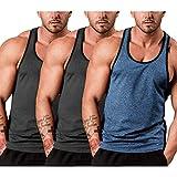 COOFANDY Men's Bodybuilding Tank Tops Stringer Gym Sleeveless Shirts 3 Pack Sports Summer Tank Workout T Shirts