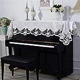 CHENSHJI Interpretación en Piano Cubierta DE Piano DE CORDADA Decoración de Pianos Paño Polvo A Prueba de Polvo Familia Regalo de Boda 90x220cm (Color : White, Size : 90x220cm)