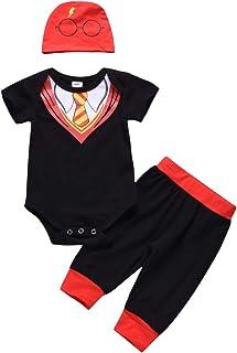 9571e7b21 3PCS Newborn Baby Boys Girls Fake Two Piece Bodysuit Summer Short Sleeve Romper  Sets