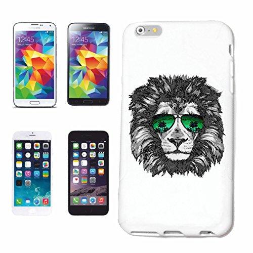 Bandenmarkt telefoonhoes compatibel met iPhone 7+ Plus Cooler LÖWE MET zonnebril AMERIKaanse LÖWE sterrenbeeld GROOTTKATZE Lion roofdier Hardcase beschermhoes H