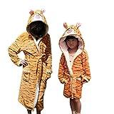 Bademantel für Frauen Kinder Nachthemd Tier Badeanzug Junge Mädchen Robe Winter Warme Nachtwäsche Cartoon Pyjamas-tiger-7