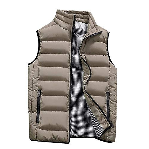 Buy Bargain NEARTIME Puffer Vest Men Qulited Winter Padded Sleeveless Jackets Gilet for Casual Work ...