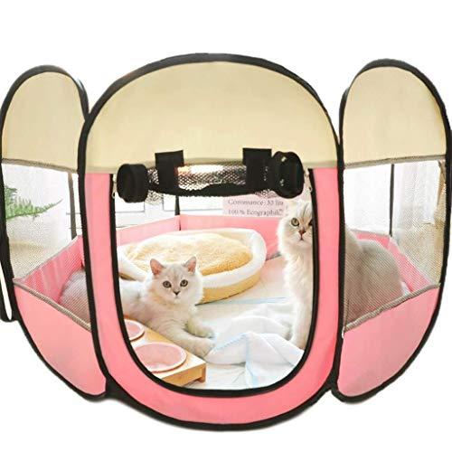 Cama Para Mascotas, Mascota Cerrada, Sala De Embarazo, Tela De Malla, Techo Solar Limpio, Tienda Para Gatos, Mosquitos Transpirables, Jaula Para Mascotas, Tamaño S Código: 75x75x45cm Seguro y cómodo