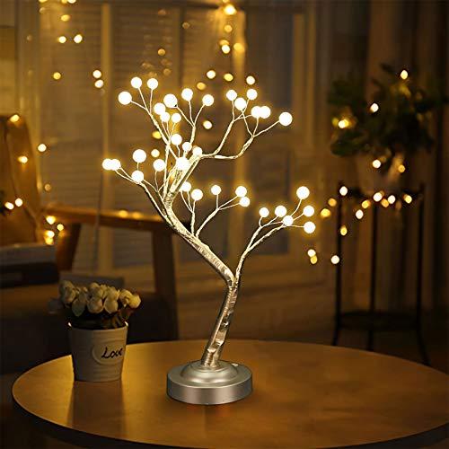 led baum lampe, led bonsai stil baum lampe perle sternen kupferdraht lampe nachtlicht, Perle led baum lampe für weihnachten home party dekoration, touch switch tischlampe